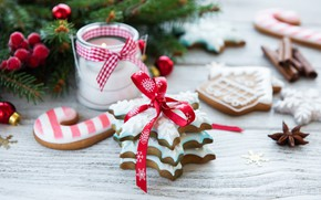 Picture holiday, Christmas, cookies, glaze, composition, ginger, Olena Rudo