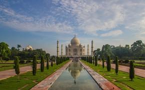 Picture India, Taj Mahal, the mausoleum, Agra