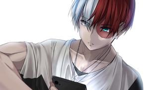 Picture smartphone, My Hero Academia, Boku No Hero Academy, Todoroki Shoto, My Hero Academy