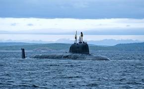 Picture boat, underwater, atomic, multipurpose, Severodvinsk