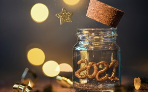 Picture holiday, star, new year, Bank, bokeh, 2021