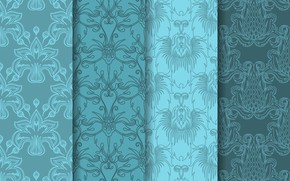Picture flowers, background, blue, texture