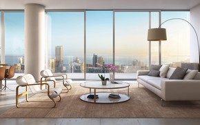 Picture interior, megapolis, living room, dining room