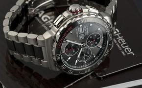 Picture time, arrows, watch, strap, watch, chronometer, Titanium, Automatic Chronograph, TAG Heuer Formula 1 Automatic Calibre …