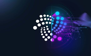 Picture logo, currency, fon, cryptocurrency, blockchain, iota, tention