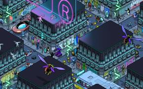 Picture Home, The city, Future, Robot, Robots, People, Building, City, Art, Art, Robot, Robots, The view …