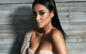Picture look, girl, face, model, portrait, makeup, neckline, beautiful, Shay Mitchell