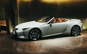 Picture white, Lexus, convertible, 2021, LC 500 Convertible