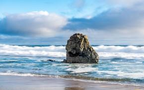 Picture sea, the sky, stone