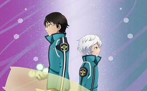Picture background, anime, guys, boys, World Trigger, The pulse of the world