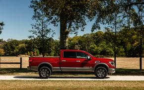 Picture Nissan, side view, pickup, Titan, 2020, Titan XD Platinum Reserve