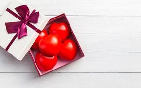 Picture love, box, gift, hearts, red, love, box, romantic, hearts, present, valentine's day, gift
