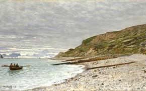 Picture painting, Claude Monet, Мыс Эве 1864