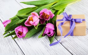 Picture gift, tape, tulips, Olena Rudo