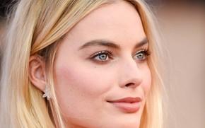 Picture look, face, portrait, makeup, actress, blonde, hair, look, blonde, actress, Margot Robbie, Margot Robbie