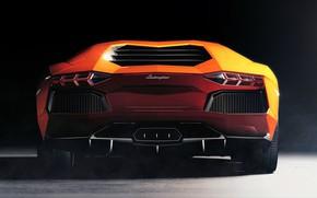 Picture Machine, Orange, Car, Lamborghini Aventador, Sportcar, Transport & Vehicles, by Chris Davis, Chris Davis