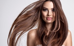 Picture girl, girls, hair, Portrait, girl, long hair, woman, hair, clean, curly, healthy, Valua Vitaly