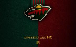 Picture wallpaper, sport, logo, NHL, Minnesota Wild, hockey