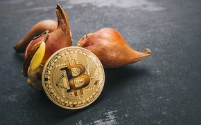 Picture gold, coin, bitcoin