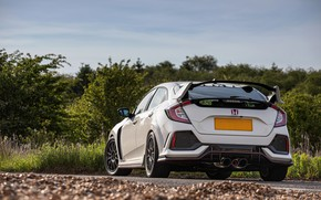 Picture white, Honda, feed, hatchback, the five-door, 2019, Civic Type R, 5th gen, FK8