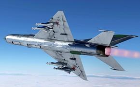 Picture USSR, MiG-21MF, OKB MiG, Frontline fighter