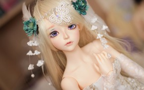 Picture decoration, doll, blonde
