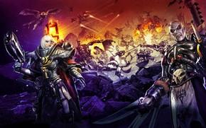 Picture game, chaos, war, Adept Sororitas, demons, Warhammer 40 000, Sister of Battle, Dark Eldar, Dawn …