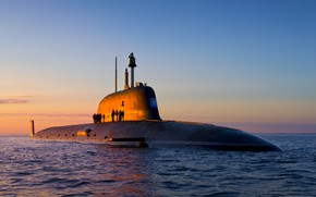 Picture boat, underwater, atomic, the project 885, Severodvinsk