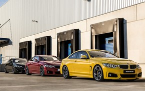 Picture Red, Auto, Black, Yellow, BMW, Machine, Three, Car, Render, Design, 435i, Sebastian Ladan, BMW 4, …