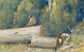 Picture picture, 1924, Loggers, Tom Roberts, Tom Roberts