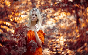 Picture girl, nature, Saskia