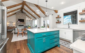 Picture interior, kitchen, living room, dining room, Englewood house