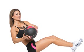 Picture ball, female, fitness, abs