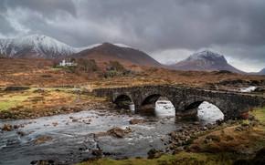 Picture bridge, Scotland, pond