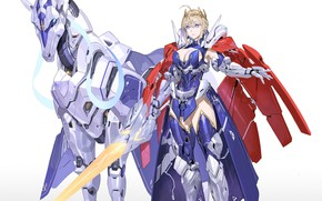 Picture girl, weapons, sword, armor, knight, Fate / Grand Order, The destiny of a great campaign, …