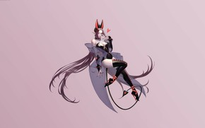 Picture Girl, Fantasy, Art, Devil, Style, Background, Illustration, Minimalism, Character, kim ji hyun