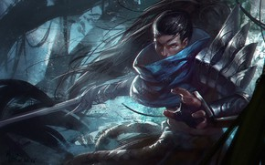 Picture look, samurai, guy, League of Legends, League Of Legends, Yasuo