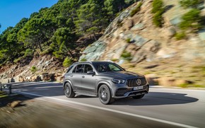 Picture machine, lights, Mercedes-Benz, speed, crossover, Mercedes-AMG, GLE 53, 4Matic+
