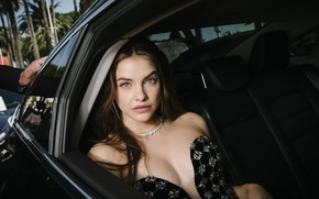 Picture look, girl, pose, model, makeup, hairstyle, hair, in the car, Barbara Palvin, Barbara Palvin