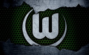 Picture wallpaper, sport, logo, football, Wolfsburg