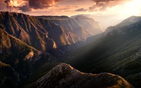 Picture the sky, clouds, canyon, Bosnia, Bosnia, Adnan Bubalo, Canyon of Rakitnica river