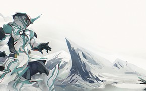 Picture weapons, fiction, landscape, the game, being, warrior, art, Warframe