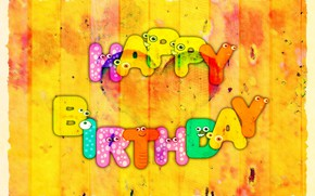 Picture heart, congratulations, postcard, happy birthday
