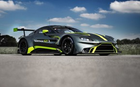 Picture Aston Martin, Vantage, racing car, GT3, 2018