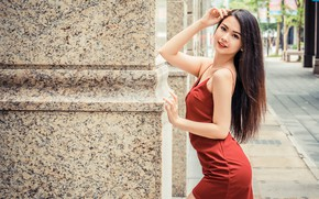 Picture look, girl, pose, hair, dress, Asian, cutie