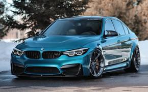 Picture BMW, Blue, Winter, Predator, F80, Sight