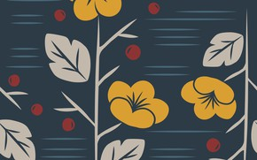 Picture flowers, blue, background, vector, texture, pattern, floral, seamless