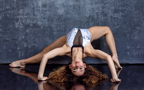 Picture girl, pose, gymnast