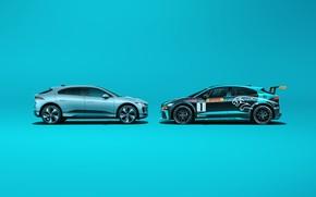 Picture Jaguar, Jaguar, electric crossover, Jaguar I-Pace eTrophy, Jaguar I-Pace, electric SUV, electric crossover, from race …