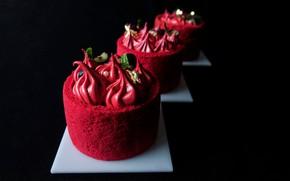 Picture berries, cake, cream, dessert